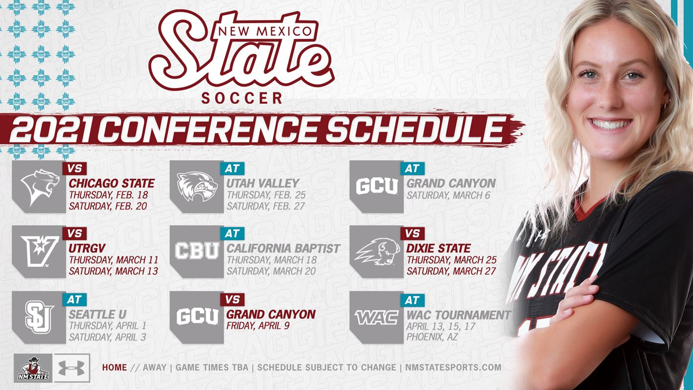 Aggies Announce Spring 2021 WAC Schedule   New Mexico State