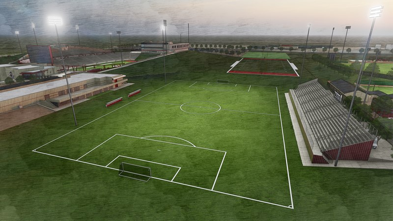 Construction Underway on Lighting System at NM State Soccer Athletics Complex - New Mexico State University Athletics